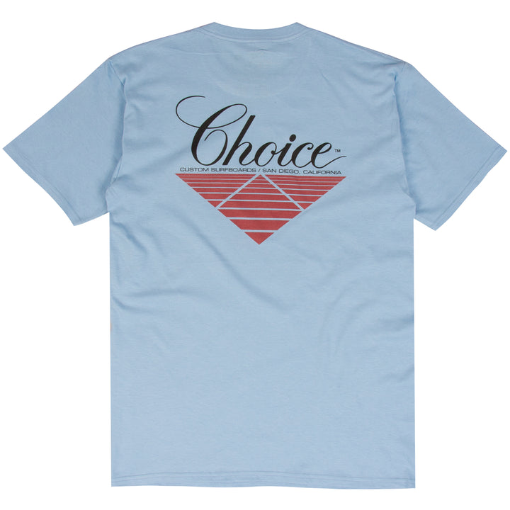 Rich Pavel blue Choice surf t-shirt design
