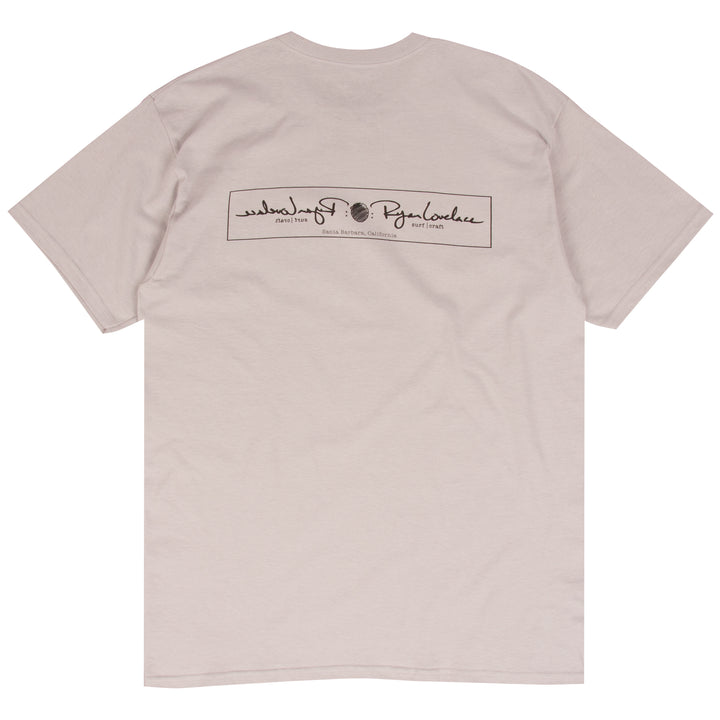 Ryan Lovelace silver surf t-shirt designed by Ryan Lovelace