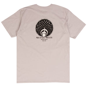 Michael Miller silver surf t-shirt designed by Tyler Warren