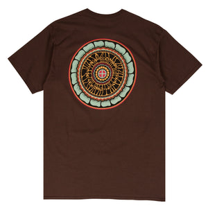 Tyler Warren brown surf t-shirt designed by Tyler Warren