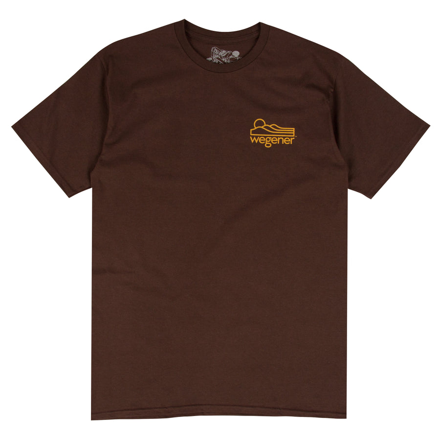 Jon Wegener Surfboards brown surf t-shirt design