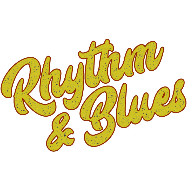 Rhythm & Blues Gold Sticker
