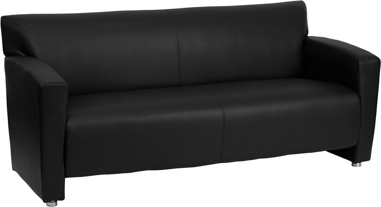 Flash Furniture 222-3-BK-GG HERCULES Majesty Series Black Leather Sofa
