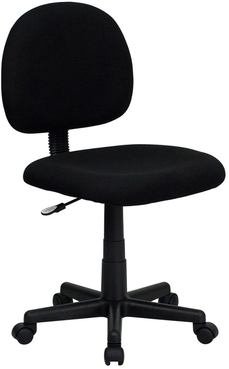 Flash Furniture BT-660-BK-GG Mid-Back Black Fabric Swivel Task Chair