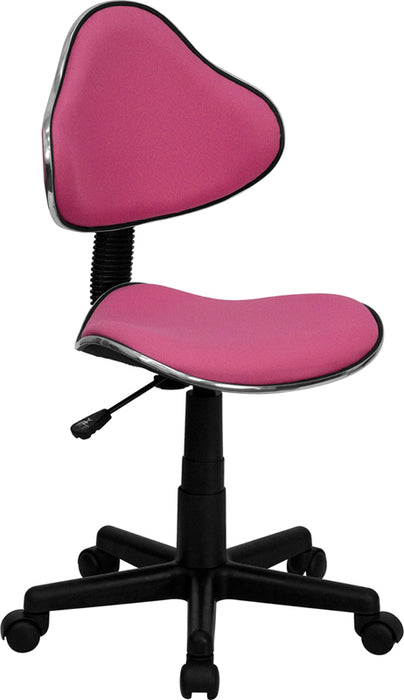 Flash Furniture BT-699-PINK-GG Pink Fabric Ergonomic Swivel Task Chair