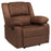 Flash Furniture BT-70597-1-BN-MIC-GG Harmony Series Chocolate Brown Microfiber Recliner
