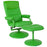 Flash Furniture BT-70621-CGRN-GG Chelsea Contemporary Recliner and Ottoman in Citrus Green Vinyl