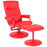 Flash Furniture BT-70621-RED-GG Chelsea Contemporary Recliner and Ottoman in Red Vinyl