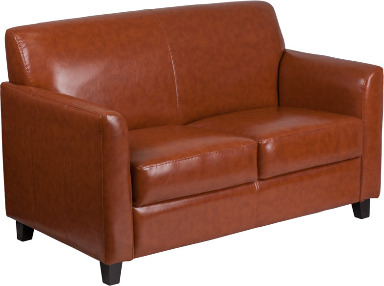 Flash Furniture BT-827-2-CG-GG HERCULES Diplomat Series Cognac Leather Loveseat