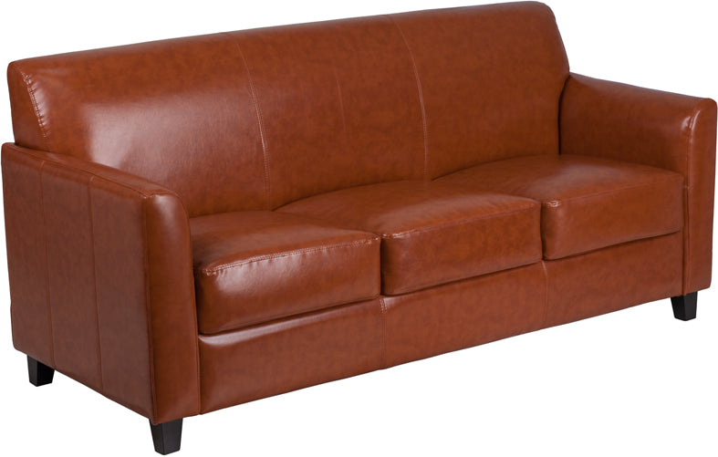 Flash Furniture BT-827-3-CG-GG HERCULES Diplomat Series Cognac Leather Sofa
