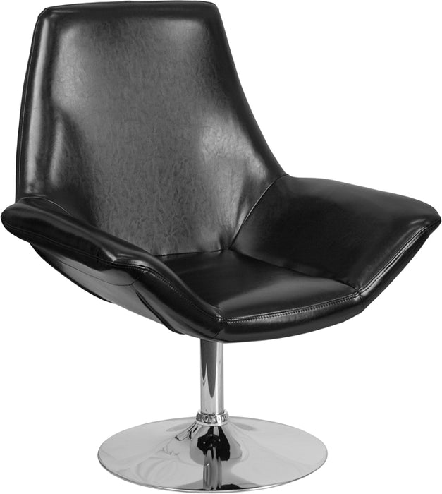 Flash Furniture CH-102242-BK-GG HERCULES Sabrina Series Black Leather Side Reception Chair
