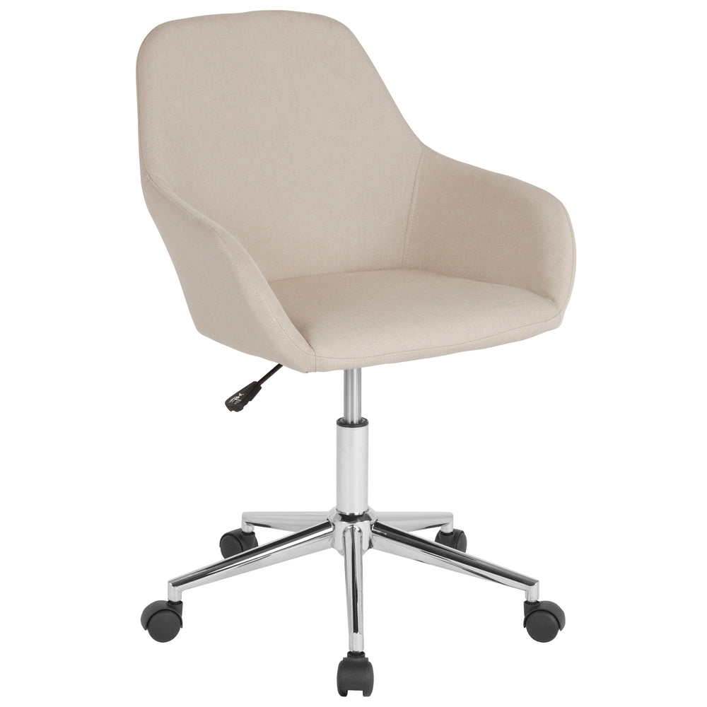 Flash Furniture DS-8012LB-BGE-F-GG Cortana Home and Office Mid-Back Chair in Beige Fabric
