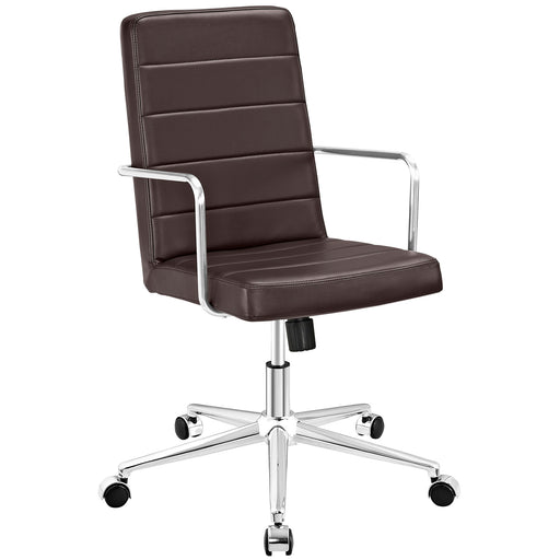 Cavalier Highback Office Chair in Brown by Modway