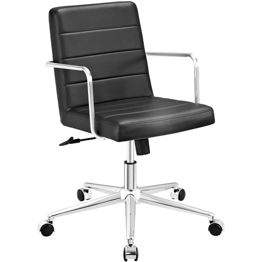 Cavalier Mid Back Office Chair in Black by Modway