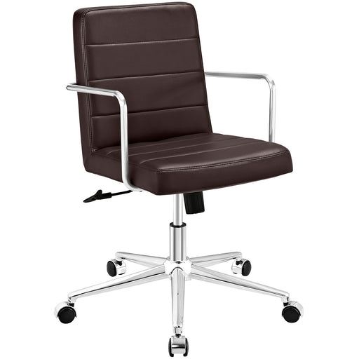 Cavalier Mid Back Office Chair in Brown by Modway