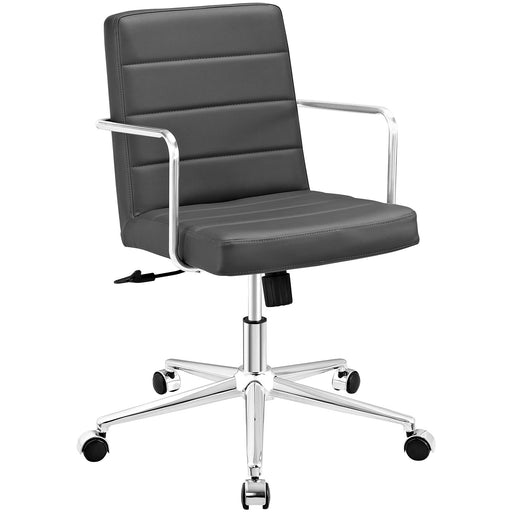 Cavalier Mid Back Office Chair in Gray by Modway