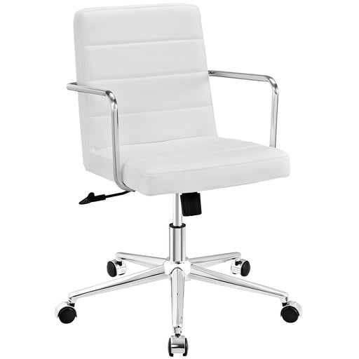 Cavalier Mid Back Office Chair in White by Modway