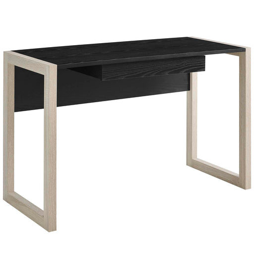 Become Wood Writing Desk in Natural Black by Modway
