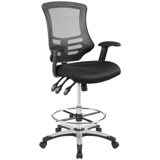 Calibrate Mesh Drafting Chair in Black by Modway