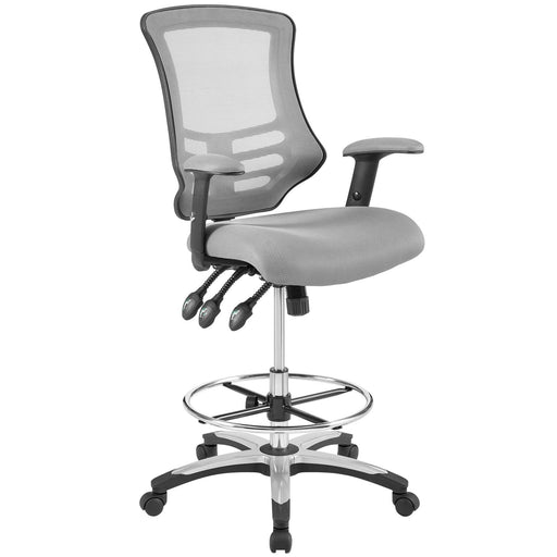 Calibrate Mesh Drafting Chair in Gray by Modway