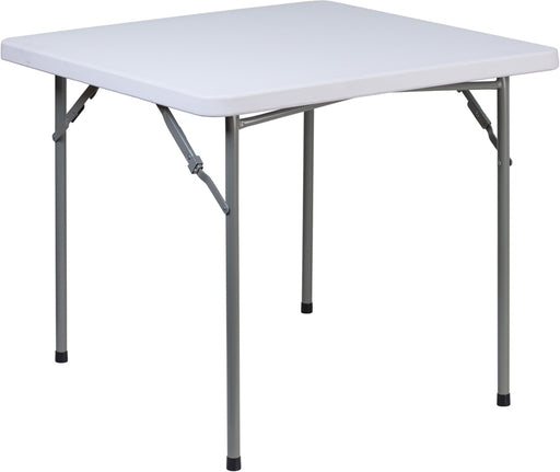 Flash Furniture RB-3434-GG 34'' Square Granite White Plastic Folding Table - RB-3434-GG