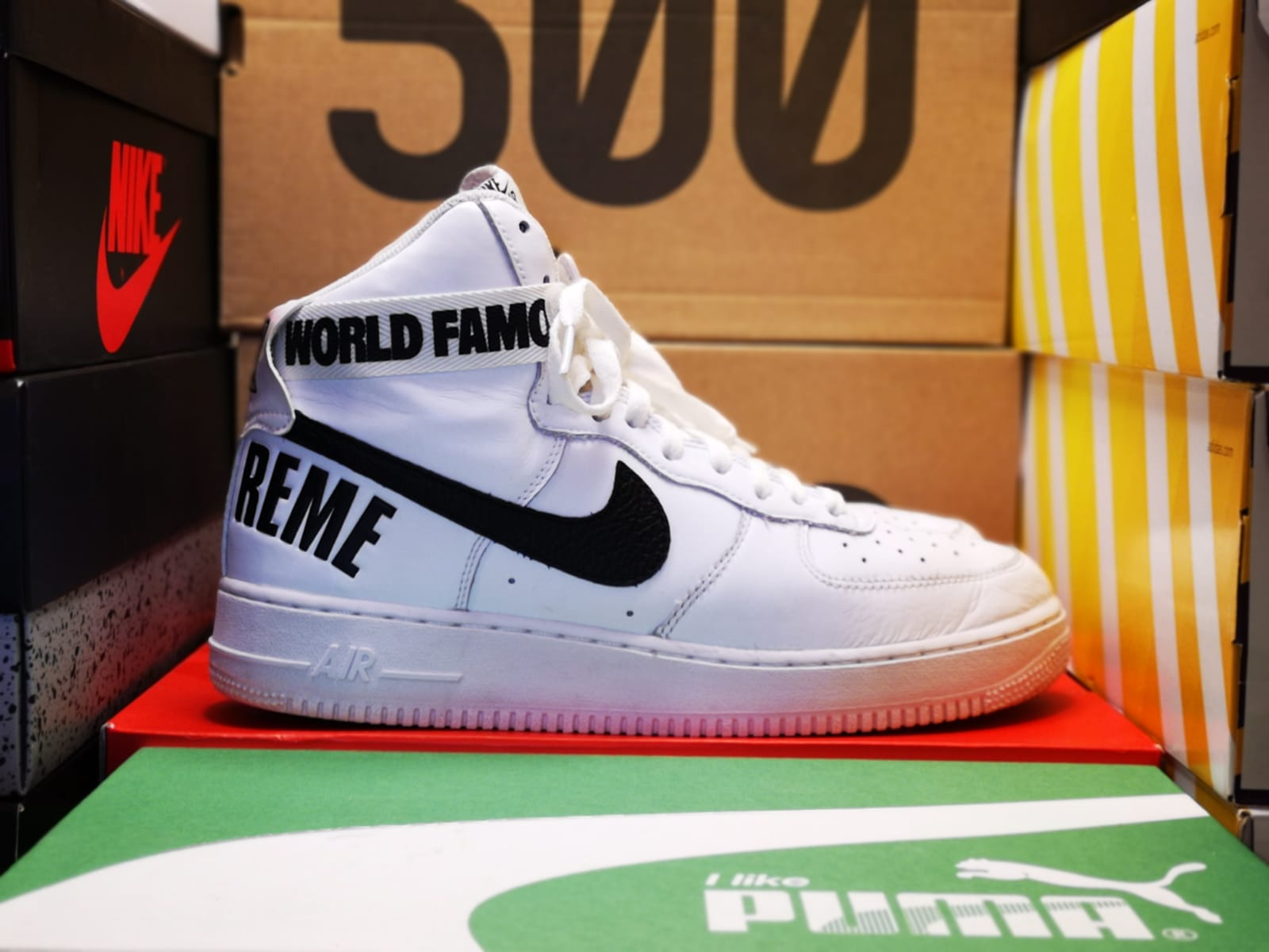 timeless design fa74f 2adef Supreme AF1 World Famous – Castle Kickz