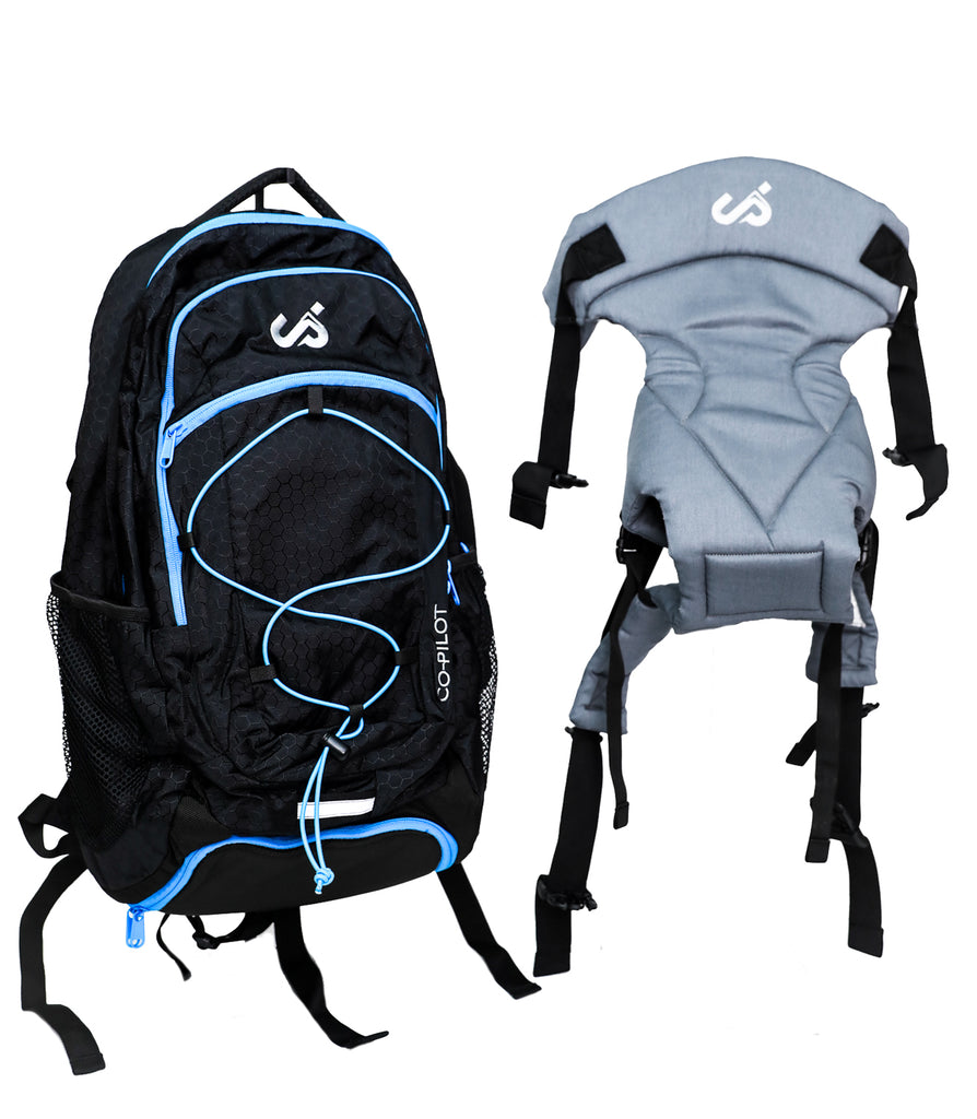 Co-Pilot Day Pack, Baby Carrier and Parenting Bag  - Black/Blue