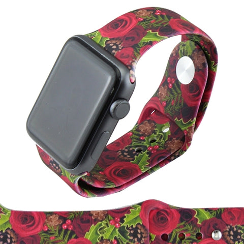 Rose Print Apple Watch Band