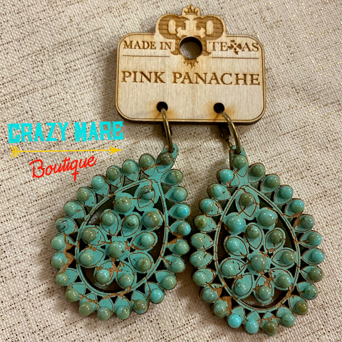 Pink Panache - Wooden Earrings