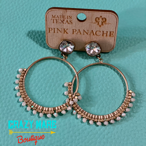 Pink Panache - Bead and Bling Circle Dangle