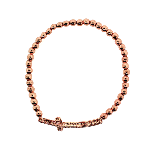 Cross Bracelet - Rose Gold