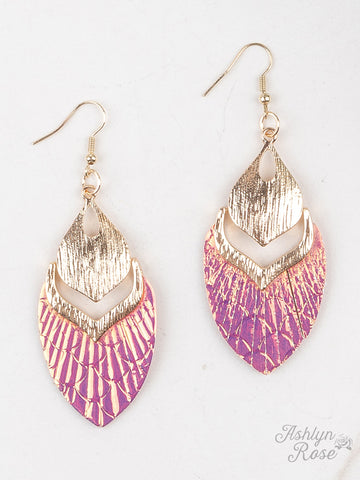Swim Away With Me Metallic Drop Earrings - 2 Colors!