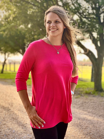 Tunic with pockets in Pink!