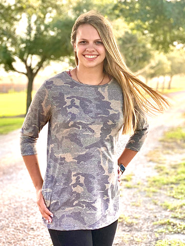 Tunic with pockets in Vintage Camo!