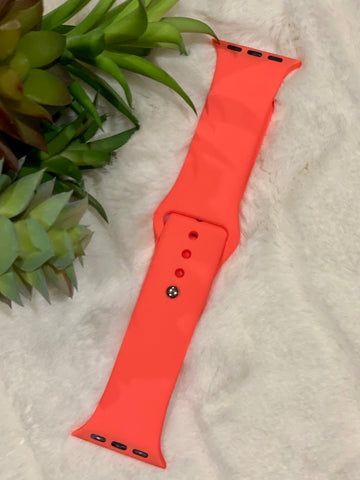 Neon Coral Watchband
