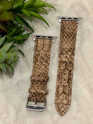 Tan Snake Buckle Watchband
