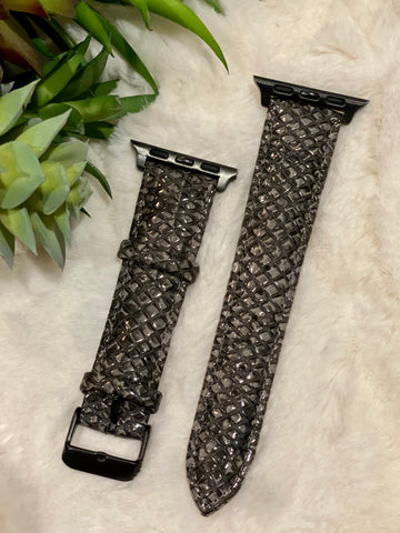 Charcoal Snake Buckle Watchband