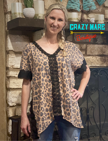 Leopard Shelby Top