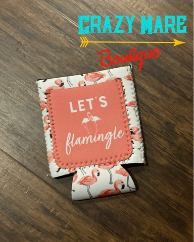 Let's Flamingle Koozie
