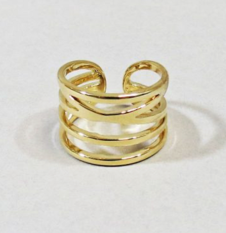 STACKED BAND RING – GOLD