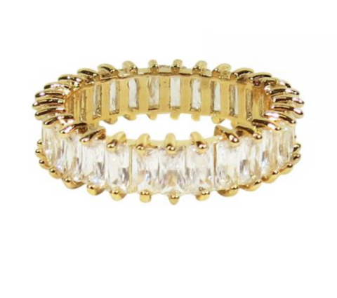 CRYSTAL RING – GOLD