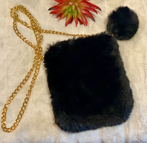 Faux Fur Purse
