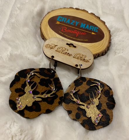 Leopard Buck Earrings