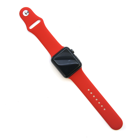 Watch Band rubber silicone 42mm 44mm red