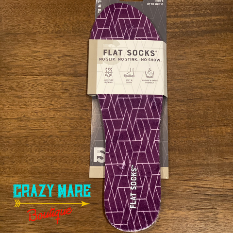 Flat Socks - Purple