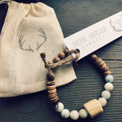 Antler and Gemstone Bracelet