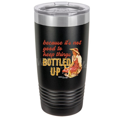 Bottled Up - Black 20 oz UV Printed Stainless Steel Drink Tumbler