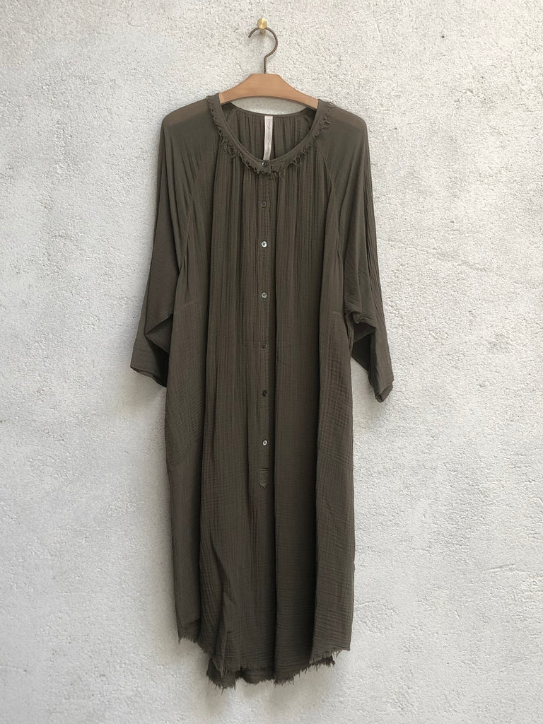 Army Gauze Medley Poet Dress