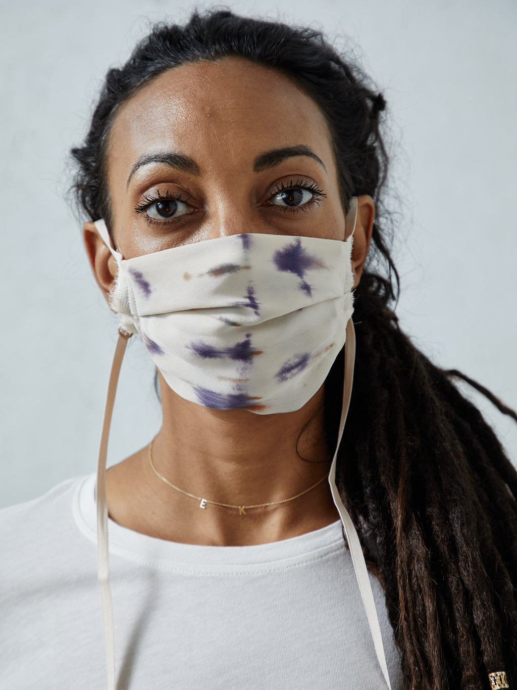 Archival Cream Tie Dye Face Mask