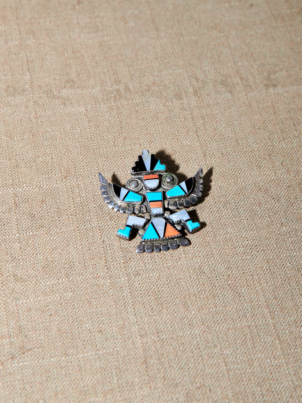 Moisaic Inlay Knifewing Brooch